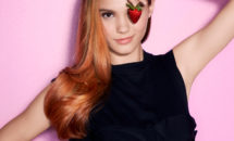 Girl with strawberry blonde hair from Hair Cuttery