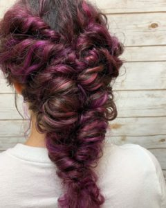 Twisted Fishtail Braid for prom from Hair Cuttery