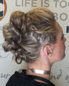 Twisted updo with braids for prom from Hair Cuttery