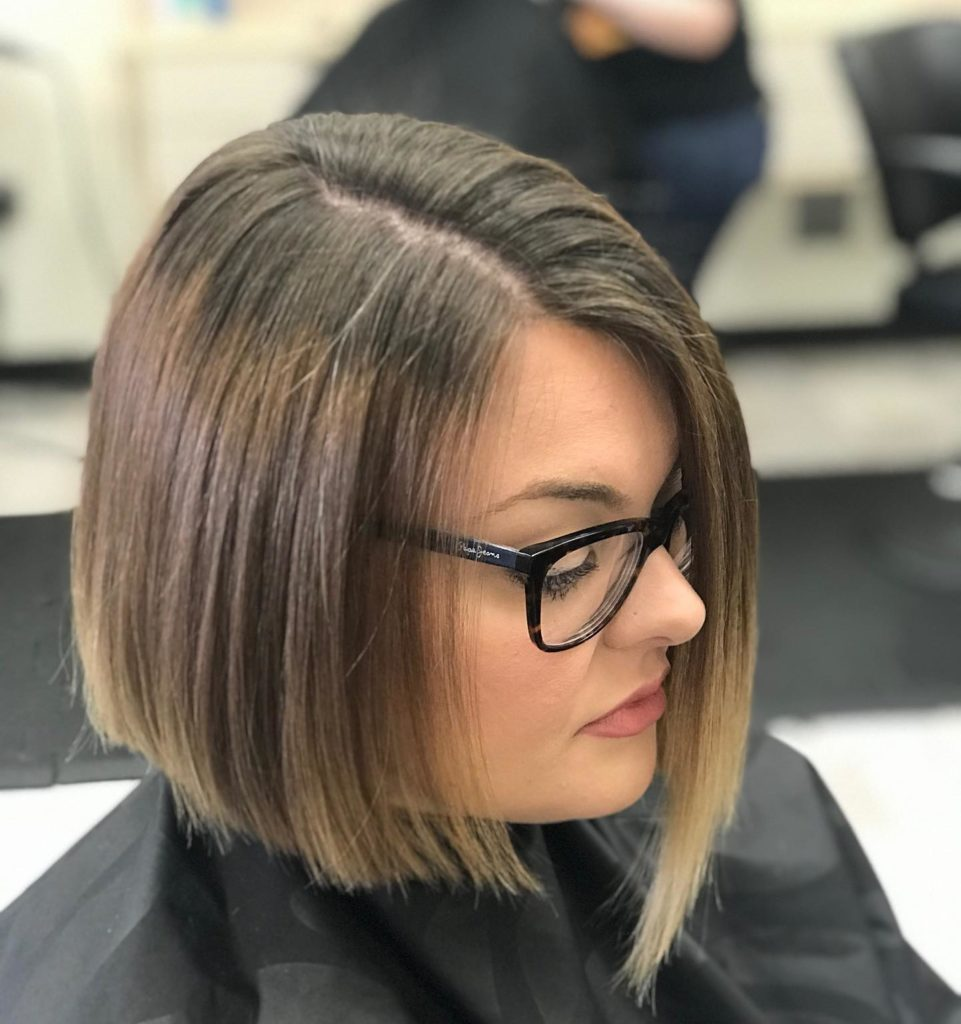 short hair cut blunt bob