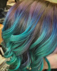 Single Process vivid hair color