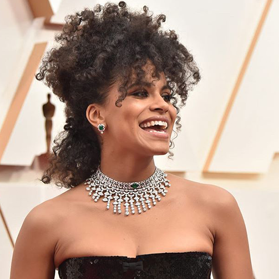 actress Zazie Beetz at the Oscars