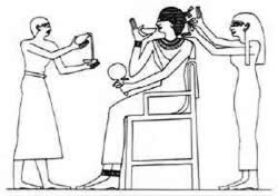 Graphic image of Egyptian hair stylist