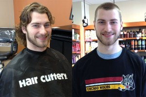 Nathan Longpre Shaves His Head for Cancer Awareness
