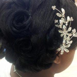 Pin Curls and Smooth Bangs