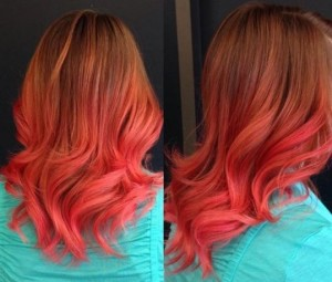 Hair as beautiful as a sunset- true romance!