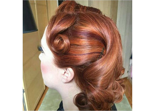 Pin up glam updo