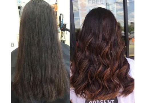 highlights,  hair color, brown hair