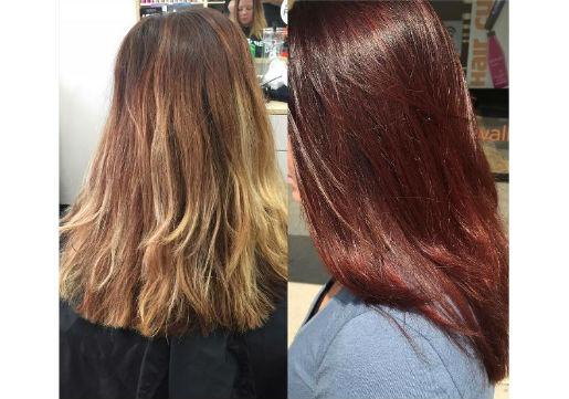 red hair, haircut, hair color